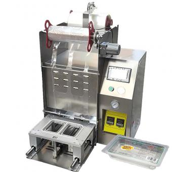 tofu tray sealing machine